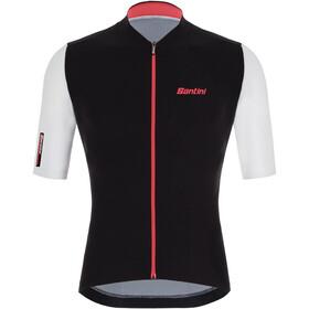 Santini Redux Vigor Shortsleeve Jersey Men, negro/rojo